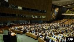 Генеральная Ассамблея ООН обсуждает резолюцию по Сирии, 15 мая 2013 г.