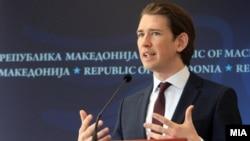 Австрискиот канцелар Себастијан Курц во посета на Македонија во 2015 година