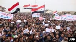 На протиурядовій демонстрації в Самаррі, 15 лютого 2013 року