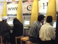 Time for a coffee -- or two -- while you wait at this Tehran Internet cafe (AFP)