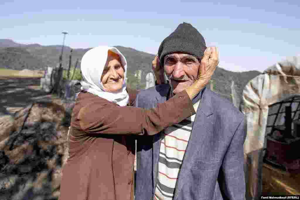 Ninety-year-old Bahman Lamazrur and his wife Qirdanoz Nuspar say they have nothing but their love.