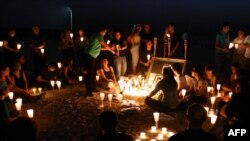 A candlelight vigil in Dubai dedicated to Neda