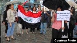 جانب من التجمع التضامني مع الشعب العراقي في ستوكهولم