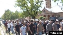 Похороны Зелимхана Хангошвили в селе Дуиси (Панкиси, Грузия)
