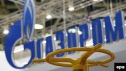 Ілюстрацыйнае фота. Лягатып расейскай кампаніі «Газпром»