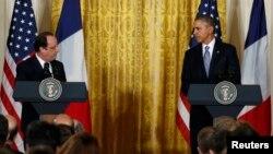 ԱՄՆ-ի և Ֆրանսիայի նախագահների համատեղ ասուլիսը Սպիտակ տանը, Վաշինգտոն, 11-ը փետրվարի, 2014թ․