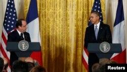 Франсуа Олланд (л), Барак Обама (п), архівне фото