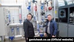 Мер Генічеська Олександр Тулупов (п) на газорозподільній станції