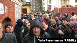 Очередь в наркологический диспансер за медсправкой для водителей, Калининград