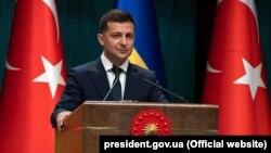 Президент Украины Владимир Зеленский во время визита в Турцию. Стамбул, 7 августа 2019 года