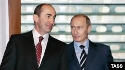 Роберт Кочарян и Владимир Путин. 2007 год
