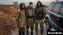 """""""Ali"""" says Tbilisi ignores the contributions of Pankisi's Kists have made, including to national defense. IS commander Umar al-Shishani (center), for one, fought in the Georgian Army in 2008."""