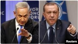 رجب طیب اردوغان (سمت راست) و بنیامین نتانیاهو