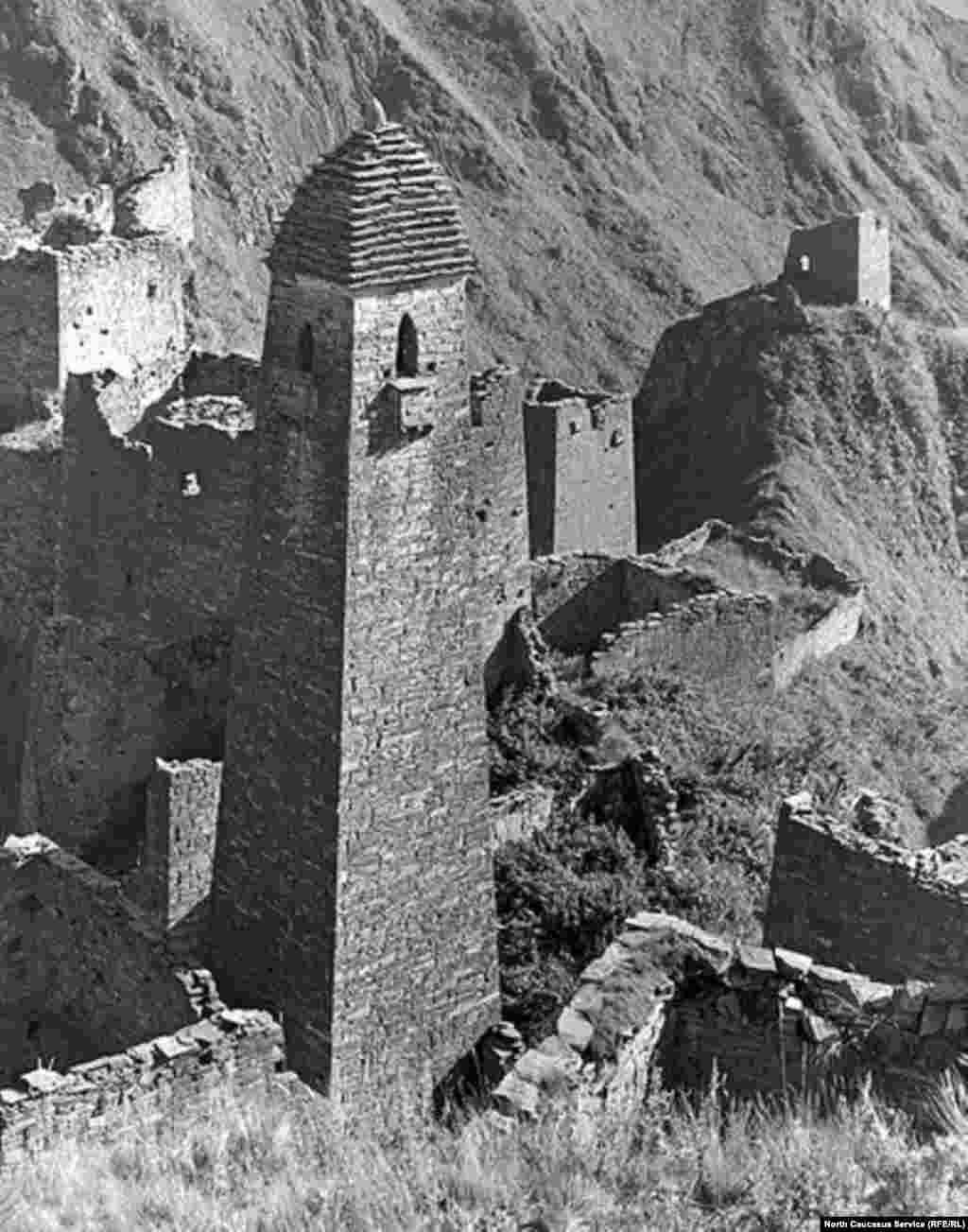 Боевая башня в окружении жилых башен (село Никарой)
