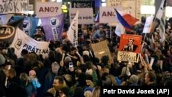Չեխիա - Բողոքի ցույցը մայրաքաղաք Պրահայում, 5-ը մարտի, 2018թ․