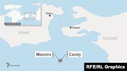 Взрыв и пожар на танкерах MAESTRO и CANDY произошел в нейтральных водах у берегов Крыма