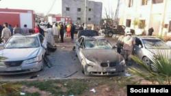Наслідки вибуху в лівійському місті Злітен
