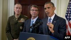 Барак Обама Афғонистондаги АҚШ ҳарбийлари тақдирига оид ўз режасини очиқламоқда, Вашингтон, 2015 йилнинг 15 октябри.