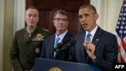 Барак Обама (п) виступає з заявою про Афганістан, 15 жовтня 2015 року
