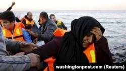 Sirijske izbleglice na grčkom ostrvu Lezbos