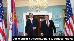 Aleksandar Vučić i Mike Pompeo