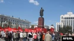 Казанда да халык Ленин һәйкәле янына җыелды