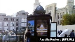 Azerbaijan -- Kiosk in Baku, 18Oct2011