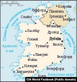 Мапа Ірландії