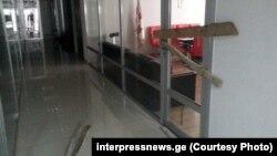 Заколоченная дверь кабинета президента федерации Давида Кевхишвили