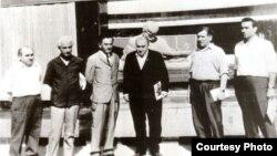Adil Babayev, Ənvər Məmmədxanlı, Həmid Araslı, Fazil Hüsnü Dağlarca (Türkiyə) Rəsul Rza, Hüseyn Abbaszadə