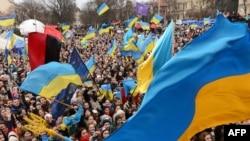 Протесты против отказа Украины подписать соглашение с ЕС. Львов, 28 ноября 2013 года