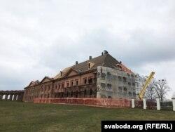Аднаўленьне ўсходняга корпусу ў Ружанскім палацы, 9 сакавіка 2020 года