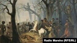 "1851,ГIуран-беттан 10-чу дийнахь Гехи-хитIехь инарла Слепцов вер"" Сурт диллинарг - Козлов Александр, репродукци."