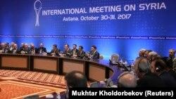 Участники международных переговоров по Сирии в Астане, 31 октября