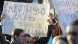 Во время акции памяти по погибшим в результате стрельбы на Народном бульваре в Белгороде