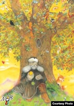 Метафорический дуб Жижки, один из символов чешской духовности. Рисунок пастелью современной чешской художницы Марии Брожовой.