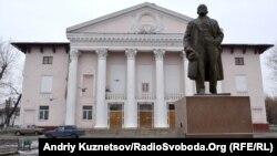 Палац культури і пам'ятник Леніну, місто Щастя, 12 грудня 2011 року