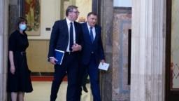 Sastanak predsjednika Srbije Aleksandra Vučića i člana Predsjedništva BiH Milorada Dodika u Beogradu, 26. avgust, 2020.