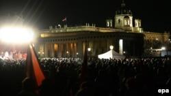 Демонстрация протеста у дворца Хофбург. Вена, 30 января 2015 года.