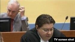 Dejan Ivetić i Ratko Mladić u sudnici