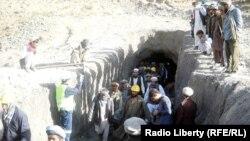 Pamje nga një minierë në Afganistan