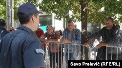 Protest radnika Metalca, Podgorica, 2014.