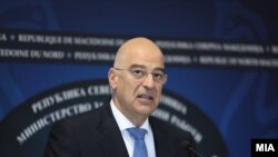 Грчкиот министер за надворешни работи, Никос Дендијас