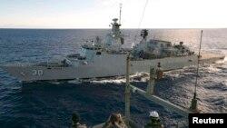 Операция по поиску пропавшего лайнера в Индийском океане.