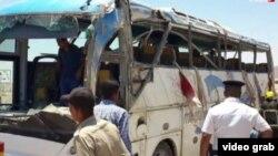 Եգիպտոսում հարձակման ենթարկված ավտոբուսը, 26-ը մայիսի, 2017թ․
