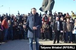 Алексей Навальный на митинге в Новосибирске