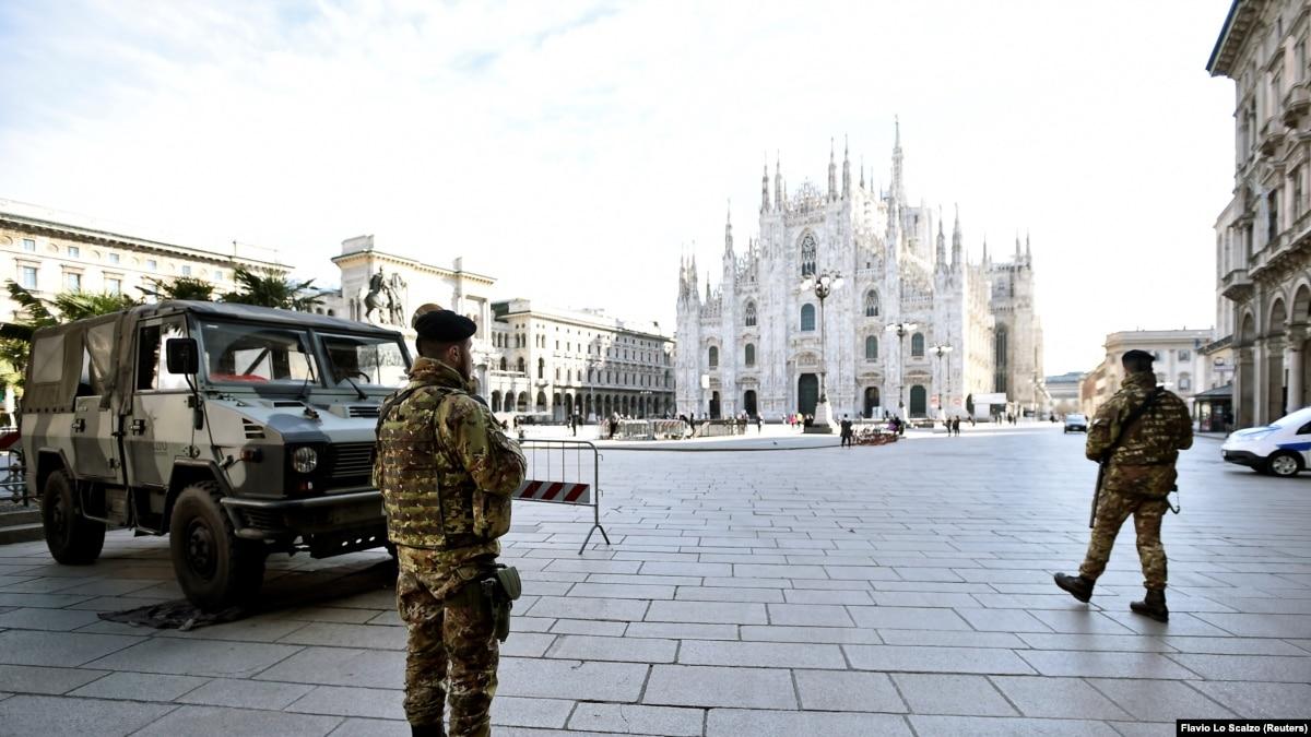 Через коронавирус Италия распространила ограничения на всю свою территорию