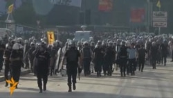 Protesters Clash With Police In Istanbul's Taksim Square