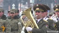 Բանակի օրը Գյումրիում նշվեց շքերթով