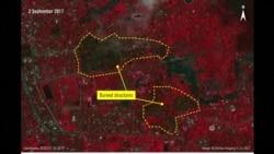 Satelitski snimci spaljenih sela Rohindža
